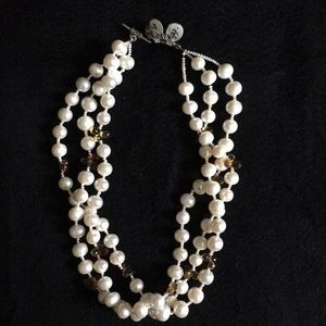 Multi Strand Freshwater Pearls/Citrine Necklace